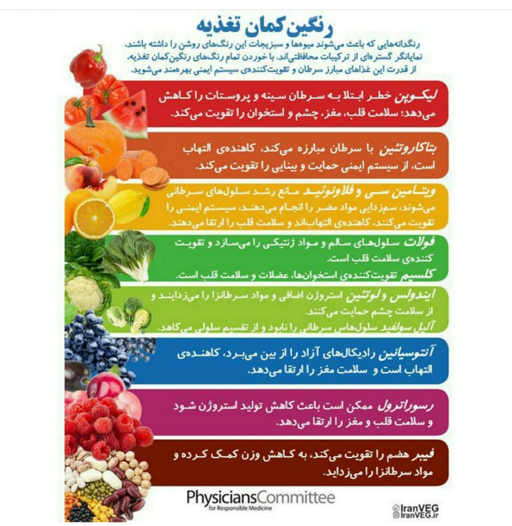 rainbow of nourishing